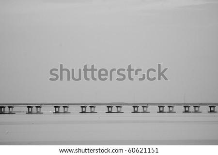 Bridge in Tampa bay - stock photo