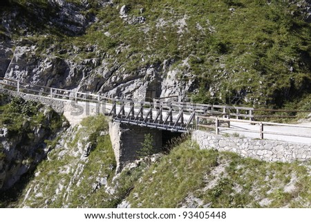 bridge in the alps