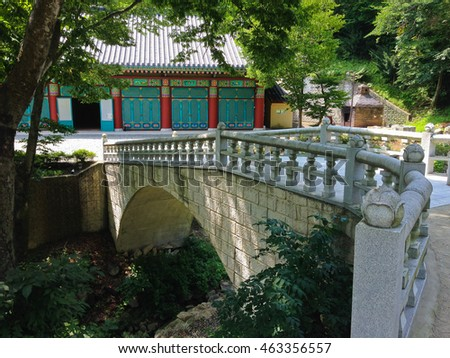 bridge in the old temples