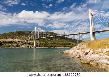 Bridge of Chalkis, Euboea, Greece  - stock photo