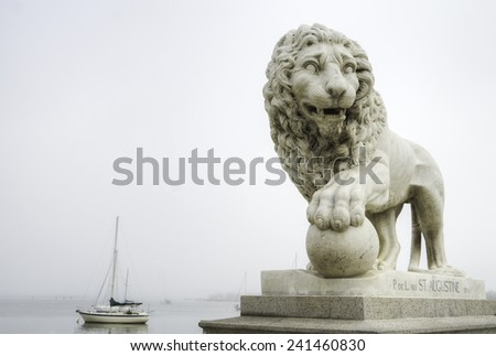 Bridge of Lions in St. Augustine, Florida. - stock photo