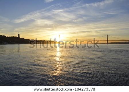 Bridge of Lisboa - stock photo
