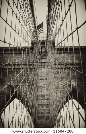Bridge of New York City, U.S.A. - stock photo