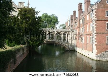 Bridge of Sighs, Cambridge - stock photo