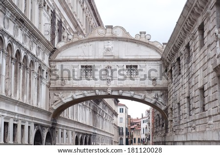 Bridge of Sighs, Ponte dei Sospiri in Venice, Italy - stock photo