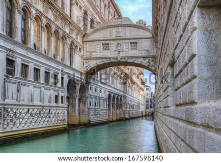 bridge of sighs ( ponte dei sospiri). Venice. Italy. - stock photo