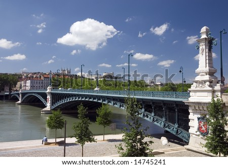 Bridge of university (Pont de l'Universite) in Lyon, France, was built in 1896 to make the way to university easier.