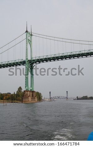 Bridge on River - stock photo