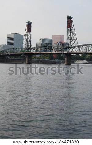 Bridge on River - stock photo