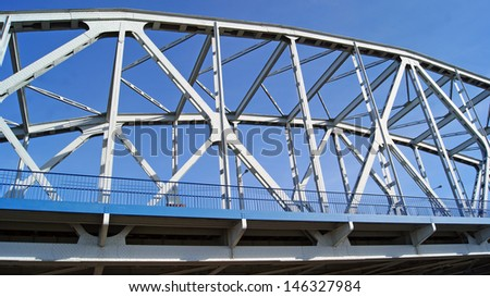 Bridge on the Polish river Wisla