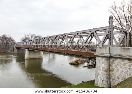 Bridge over the Oder in Brzeg, Poland