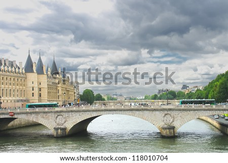 Bridge over the Seine. Paris. France