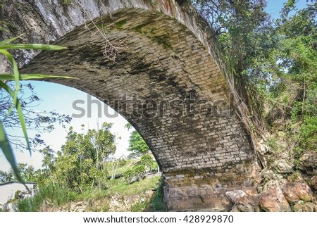 Bridge overpass in tropical forested area of Jamaica