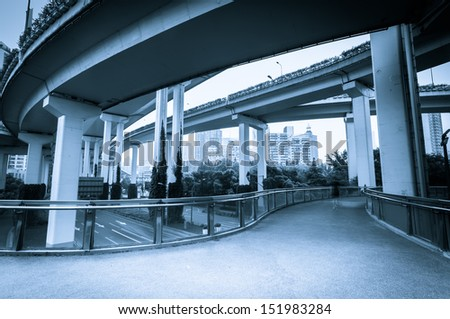 bridge overpass of shanghai china.