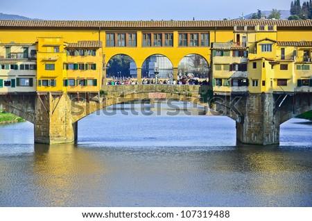 Bridge Ponte Vecchio in Florence, Italy - stock photo