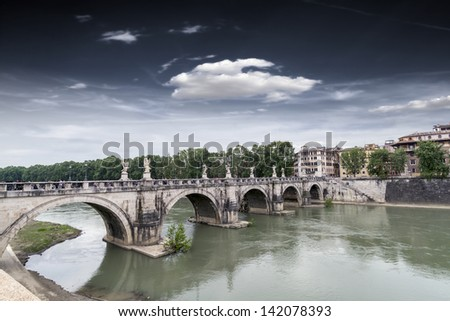 Bridge Sant'Angelo in Rome.