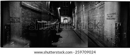 Bridge Street Alley - stock photo