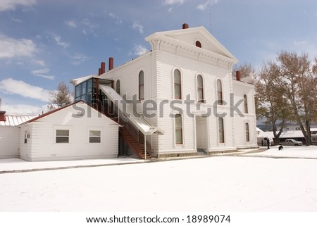 Bridgeport, California is an unincorporated community that is the county seat of Mono County, California. - stock photo