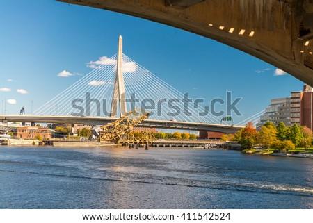 Bridges of Boston. - stock photo