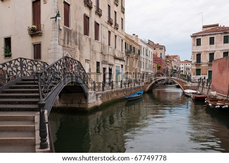 Bridges over the canals in Venice, Italy - stock photo