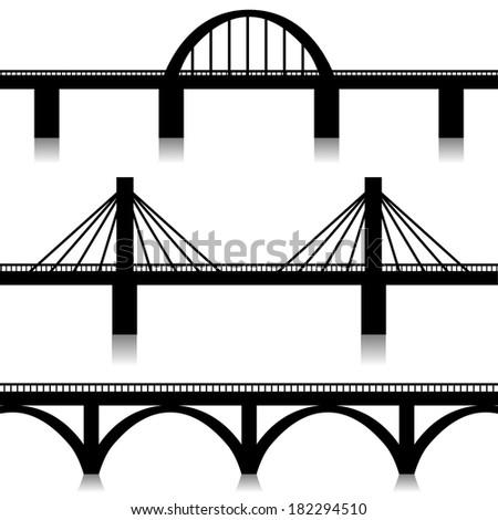 Bridges set - stock photo