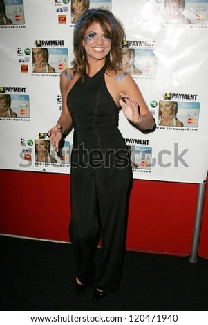 Bridgetta Tomarchio at the launch party for the Carmen Electra PrePaid MasterCard and the Carmen Electra Gift MasterCard. The Red Pearl Kitchen, Los Angeles, CA. 10-25-06 - stock photo