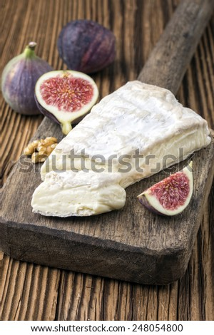 brie cheese - stock photo