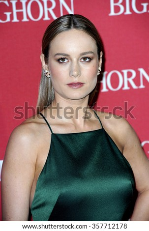Brie Larson at the 27th Annual Palm Springs International Film Festival Awards Gala held at the Palm Springs Convention Center in Palm Springs, USA on January 2, 2016. - stock photo