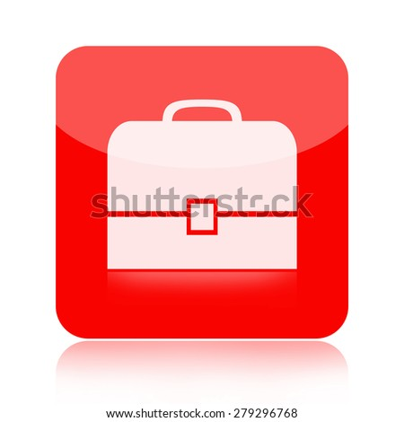 Briefcase icon - stock photo