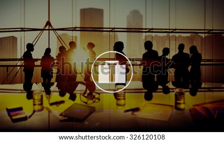 Briefcase Luggage Bag Business Working Concept - stock photo