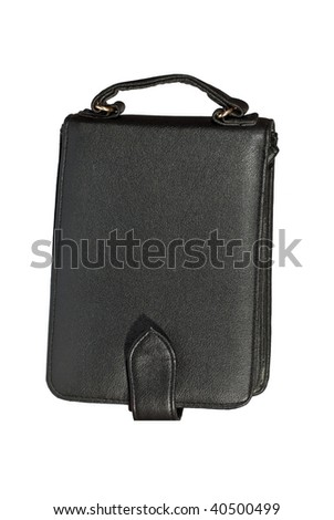 Briefcase on documents and money