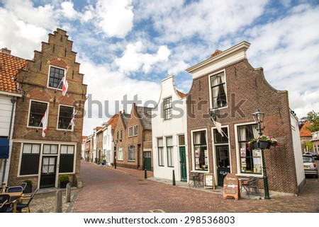 Brielle, Netherlands - May 24, 2015: View of Brielle, a town, municipality and historic seaport in the western Netherlands.