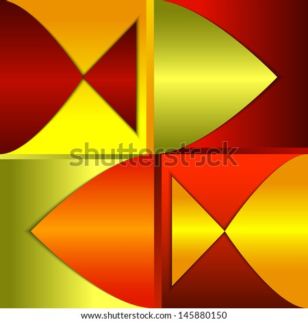 Bright abstract background, composition with fish silhouettes. Rasterized version - stock photo