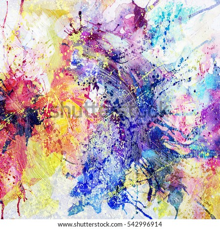 bright abstract background painted with watercolor, floral