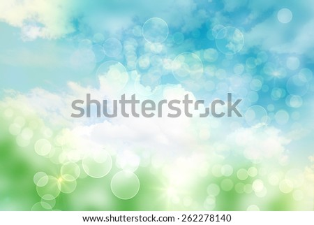 Bright abstract bokeh background - stock photo