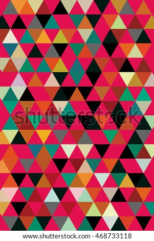 bright abstract geometric background of triangles