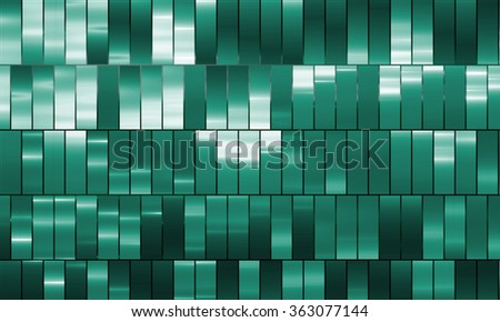 Bright abstract mosaic blue and green background with gloss