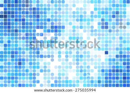 Bright abstract mosaic blue background with gloss