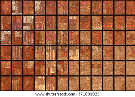Bright abstract mosaic brown background with gloss