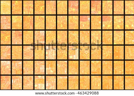 Bright abstract mosaic orange background with gloss