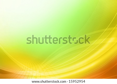Bright abstract multi-coloured background with curves - stock photo