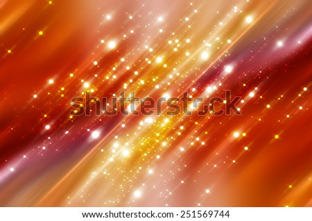 Bright abstract orange background with glitter. - stock photo