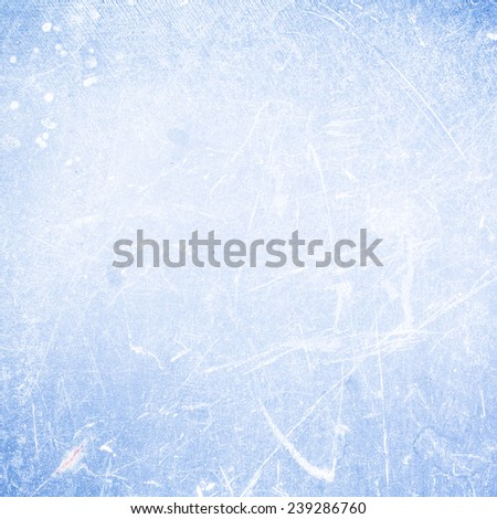 Bright   Abstract Textured background  with scratches cyan blue color. Old surface backdrop  for your design, print, wallpaper, web, dark gradient, ad.  - stock photo