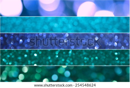 Bright and abstract blurred navy blue rainbow background with shimmering glitter - stock photo