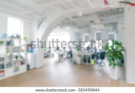 Bright and clean office environment, abstract background. - stock photo