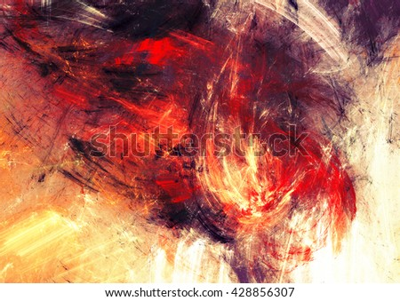 Bright artistic splashes. Abstract painting color texture. Modern futuristic pattern. Shiny multicolor dynamic background. Fractal artwork for creative graphic design