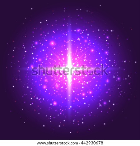 bright background with stars - stock photo