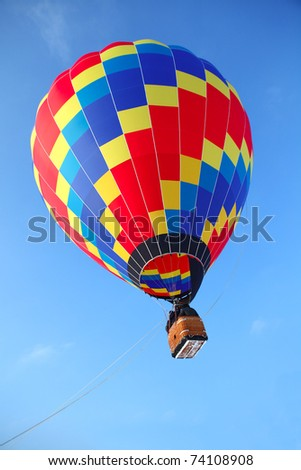 bright balloon in the sky - stock photo