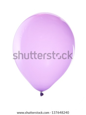 bright balloons isolated on white - stock photo