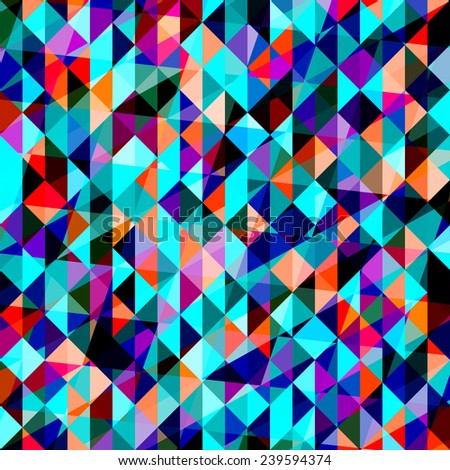 bright blended abstract triangular polygonal geometric background for use in design